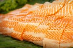 Fatias Salmon Fotografia de Stock