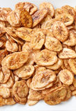 Fatias secadas da banana revestidas com o açúcar Foto de Stock Royalty Free