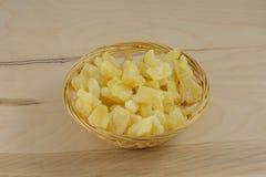 Fatias secadas do abacaxi Imagem de Stock Royalty Free