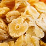 Fatias secadas do ananás Foto de Stock
