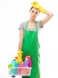 Contactez la femme de nettoyage