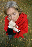 Fatigue. A middle aged woman tired of working in the garden Stock Photo