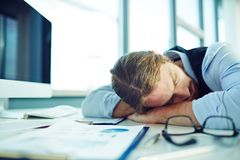 Fatigue businessman Stock Image
