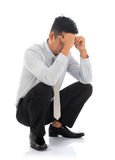 Fatigue despair tired businessman Stock Image