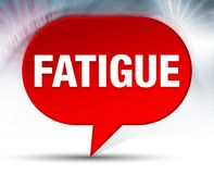 Fatigue Red Bubble Background royalty free illustration