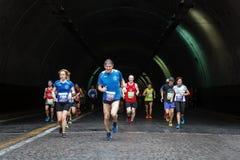 The fatigue of the marathon athlete Royalty Free Stock Image