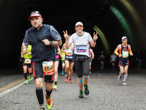 The fatigue of the marathon athlete Stock Image