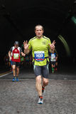 The fatigue of the marathon athlete Royalty Free Stock Photography