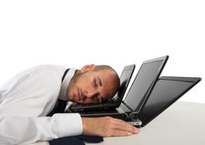 Fatigue and stress in the office Royalty Free Stock Photos