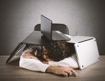 Fatigue and stress in the office Royalty Free Stock Images