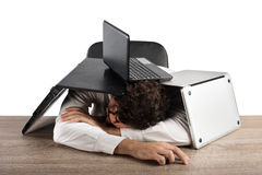 Fatigue and stress in the office Stock Images