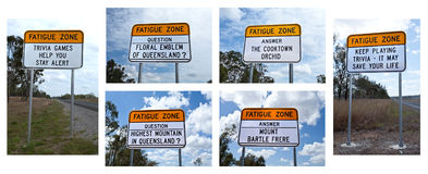 Fatigue Zone Sign Royalty Free Stock Photos