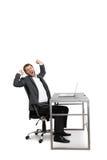 Fatigued businessman yawning Royalty Free Stock Photo