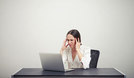 Fatigued businesswoman Royalty Free Stock Photo