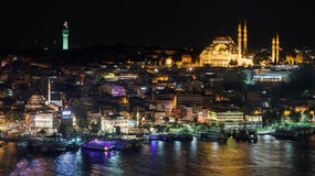 Fatih district by night Stock Images