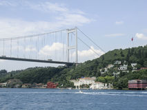 Fatih Mehmet Bridge Bosphorus, Ιστανμπούλ, Τουρκία Στοκ φωτογραφίες με δικαίωμα ελεύθερης χρήσης