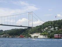 Fatih Mehmet Bridge Bosphorus, Istanboel, Turkije Royalty-vrije Stock Foto's