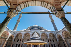 The Fatih Mosque (Conqueror's Mosque) in Istanbul, Turkey royalty free stock images