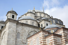 Fatih Mosque in district of Istanbul, Turkey Royalty Free Stock Image
