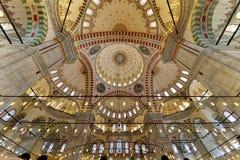 Fatih Mosque foto inom kupolen Royaltyfri Fotografi