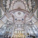 Fatih Mosque i område av Istanbul, Turkiet Royaltyfri Foto