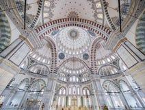 Fatih Mosque i område av Istanbul, Turkiet Fotografering för Bildbyråer