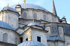 Fatih mosque in Istanbul. Turkey stock image