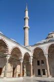 Fatih Mosque minaret Royaltyfri Foto