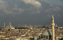 Fatih Mosque och Suleymaniye moské Arkivbilder
