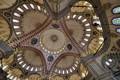 Fatih Mosque photo inside the dome royalty free stock images