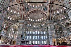 Fatih Mosque, a public Ottoman mosque in the Fatih district of Istanbul, Turkey Royalty Free Stock Photos