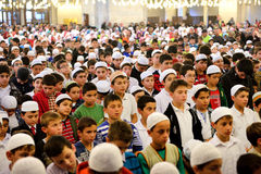 Fatih mosque ritual of worship centered in prayer, Istanbul, Tur Royalty Free Stock Photo