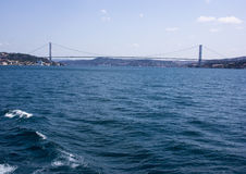 Fatih sułtanu Mehmet most nad Bosphorus cieśniną w Istanbuł Fotografia Royalty Free