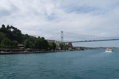Fatih sułtanu Mehmet most - Po drugie Bosphorusbridge i Rumeli forteca w Istanbuł, Turcja Obrazy Royalty Free