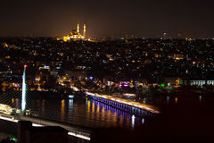 Fatih Sultan Camii Mosqueat night Istanbul, Turkey Royalty Free Stock Images