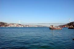Fatih Sultan-Mehmet-Brücke Lizenzfreies Stockfoto