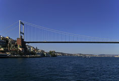 Fatih Sultan Mehmet Bridge. In Istanbul, Turkey Stock Photos