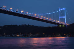 Fatih Sultan Mehmet Bridge. In Istanbul,Turkey Stock Photo
