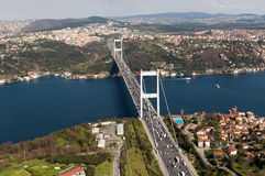Fatih Sultan Mehmet Bridge Stockbilder