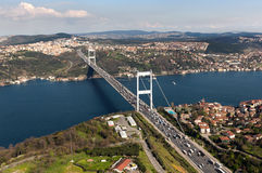 Fatih Sultan Mehmet Bridge Stockfotografie