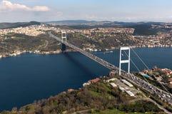 Fatih Sultan Mehmet Bridge Lizenzfreie Stockbilder