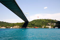 Fatih Sultan Mehmet Bridge Royalty Free Stock Photography