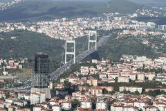 Fatih Sultan Mehmet bridge in Istanbul City Stock Photo