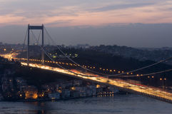 The Fatih Sultan Mehmet Bridge, Istanbul-Turkey Stock Images