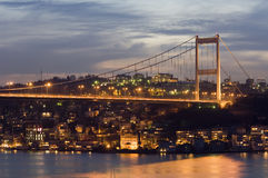 The Fatih Sultan Mehmet Bridge, Istanbul-Turkey Stock Photos