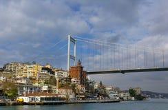 Fatih Sultan Mehmet Bridge, Istanbul, Turkey Royalty Free Stock Images