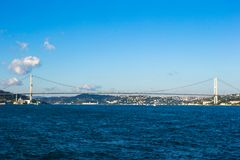 Fatih Sultan Mehmet Bridge over the Bosphorus Stock Photos