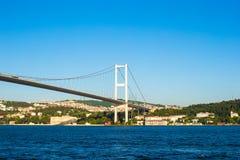 Fatih Sultan Mehmet Bridge over the Bosphorus Stock Images