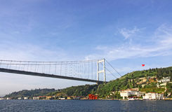 Fatih Sultan Mehmet Bridge over Bosphorus strait in Istanbul Stock Photos