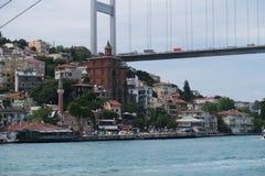 Fatih Sultan Mehmet Bridge - an zweiter Stelle Bosphorusbridge in Istanbul, die Türkei Stockfotos